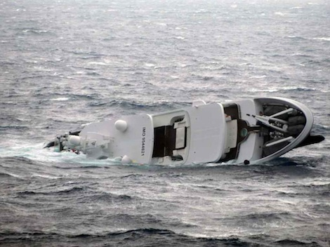 Image for article Superyacht 'Yogi' sinks off coast of Skyros, Greece