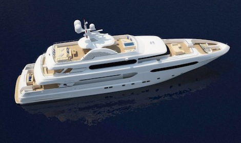 Image for article Sunrise Yachts sell in build 45m Project Sunset