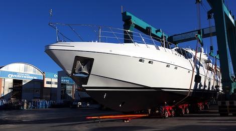 Image for article First Mangusta 110 sets sail for Miami