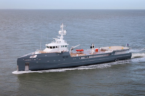 Image for article Damen 67m Sea Axe Hull 6711 completes sea trials