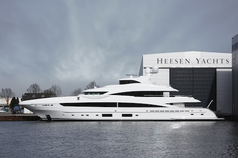 Image for article Heesen Yachts launch 51m 'My Sky'