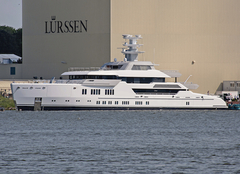 Image for article Lürssen launches 66m Project Green superyacht