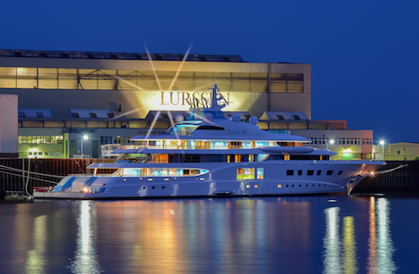 Image for article Lürssen Yachts launches 104m 'Quantum Blue'