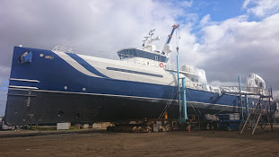 Image for article 51.3m Umbra arrives at Oceania Marine for refit
