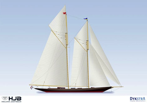 Image for article Holland Jachtbouw lay keel for 50m 'Rainbow II'