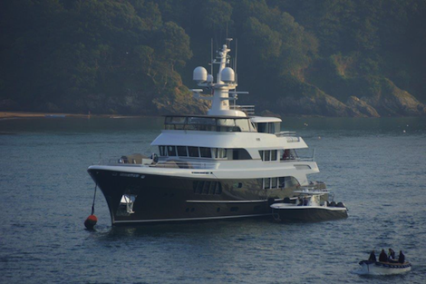 Image for article Spotted: 'CaryAli' in Devonshire waters