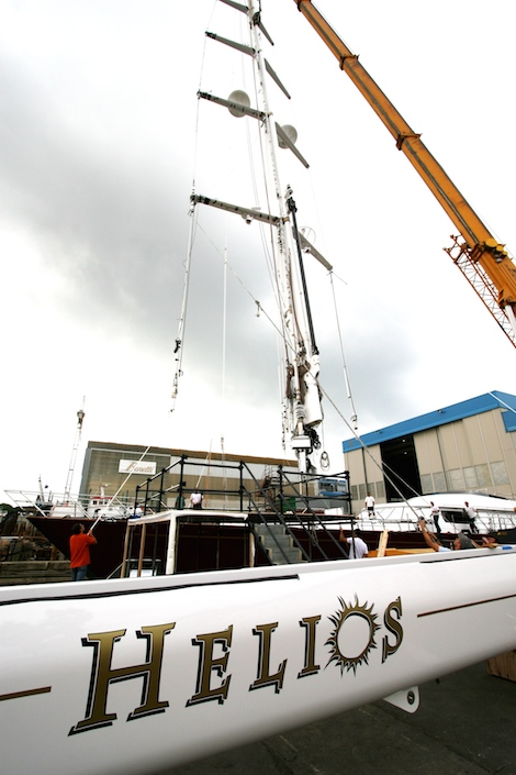 Image for article 'Helios' returns home for refit