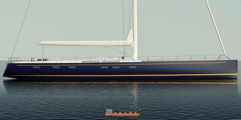Image for article Yachting Developments release renderings of Hull 1012