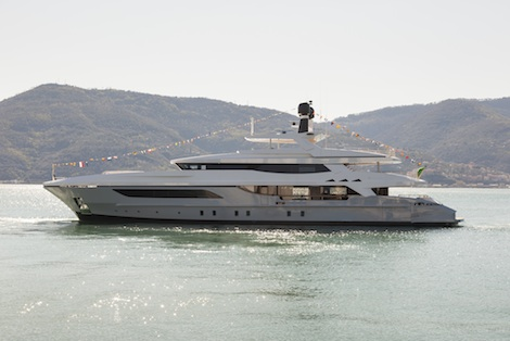 Image for article Baglietto launches hull 217 46m motoryacht