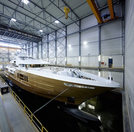 Image for article Heesen launch 55m 'Azamanta'