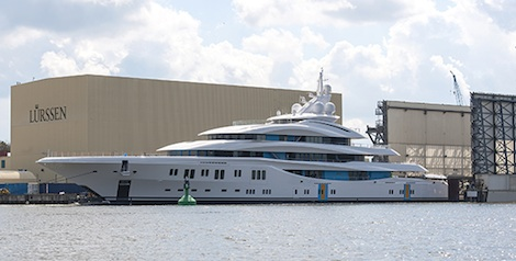 Image for article Lurssen completes 91m 'Orchid'