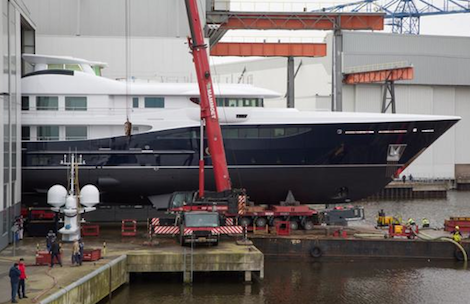 Image for article Ro-flo launch of the 55m '180 Amels'