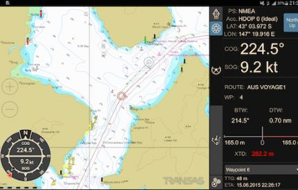 Image for Transas navigation available on Android