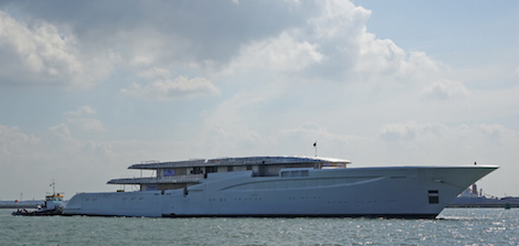 Image for article Hull of 96m Feadship spotted during SAIL parade