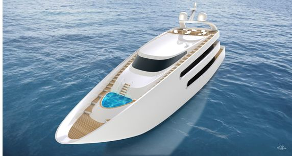 Here the designer tells SYD about his first ever yacht concept.