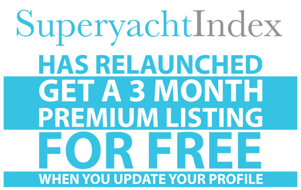 SuperyachtIndex has relaunched. Get a 3 month premium listing for free when you update your profile