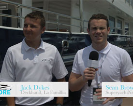 Jack Dykes, Deckhand, La Famillia with SuperyachtNews.com at the Singapore Yacht Show 2016