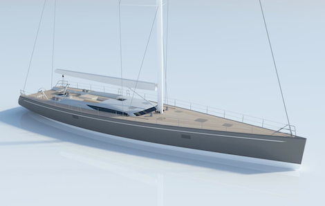Image for article Work begins on Baltic 107 custom