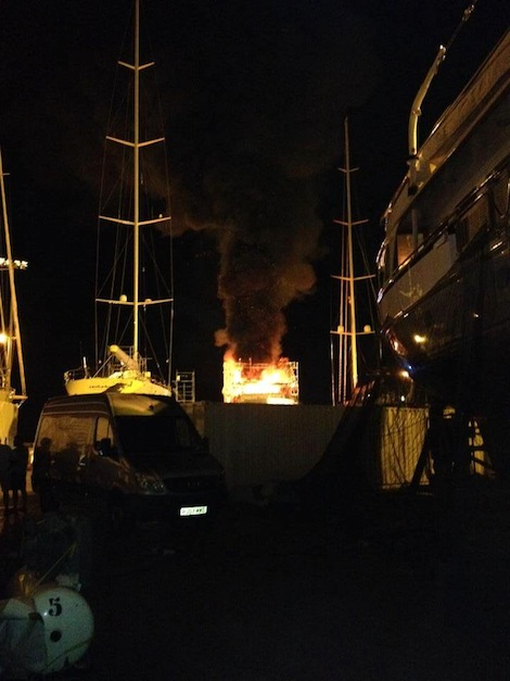 Image for article Fire breaks out at STP Palma