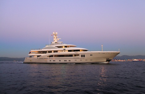 Image for article Lurssen completes refit on 'Global'
