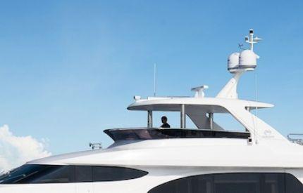 Image forHorizon Yachts Launches New E78 Motoryacht with Innovative Hydraulic Flybridg...