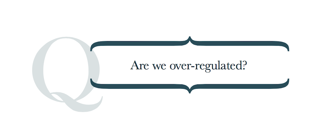 Image for article Are we over-regulated?